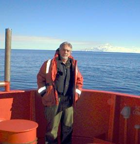 Bruce Luyendyk on icebreaker N.B. Palmer in the Ross Sea